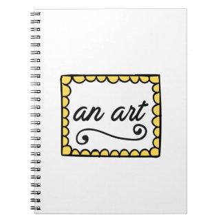 Ein Kunst-Notizbuch Notizblock