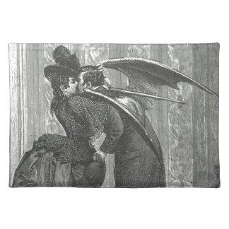 Ein Kussviktorianischer/gotischer Winged Vampire Tischset