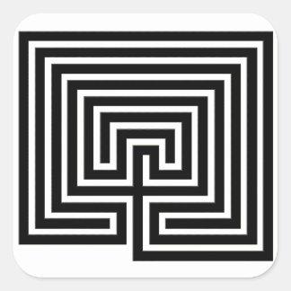 Ein Labyrinth, zum mit Ihnen - des quadratischen Quadratischer Aufkleber