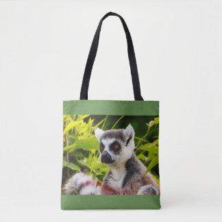 ein Lemur von Madagaskar auf Taschentasche Tasche