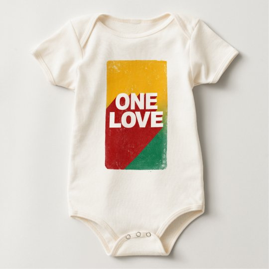 Ein Liebe-Plakat Baby Strampler