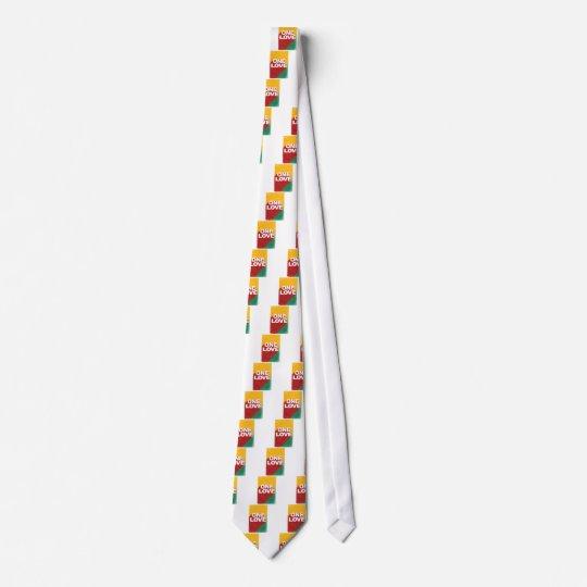 Ein Liebe-Plakat Bedruckte Krawatte