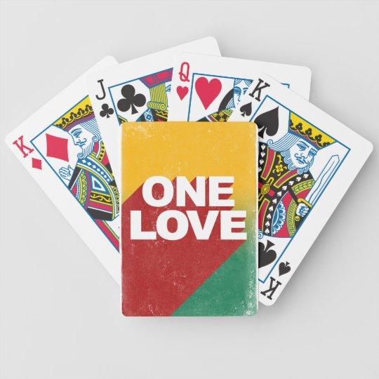 Ein Liebe-Plakat Bicycle Spielkarten