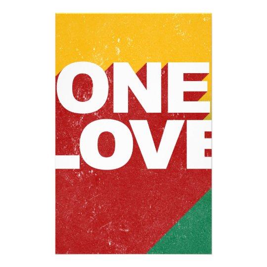 Ein Liebe-Plakat Briefpapier