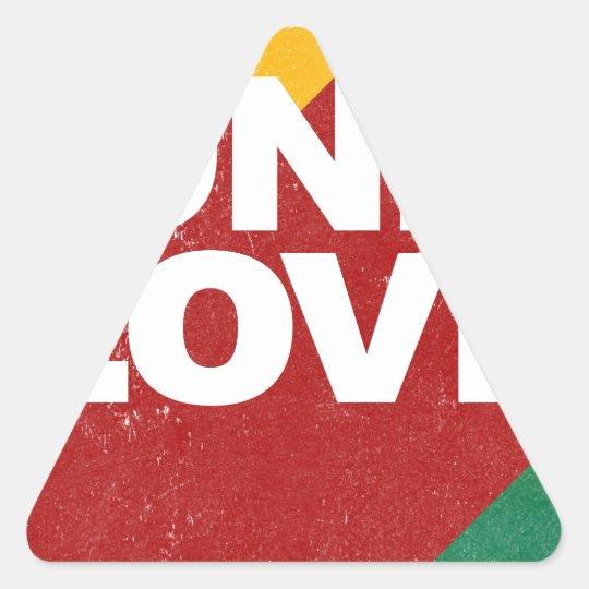 Ein Liebe-Plakat Dreieckiger Aufkleber