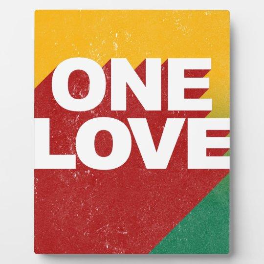 Ein Liebe-Plakat Fotoplatte