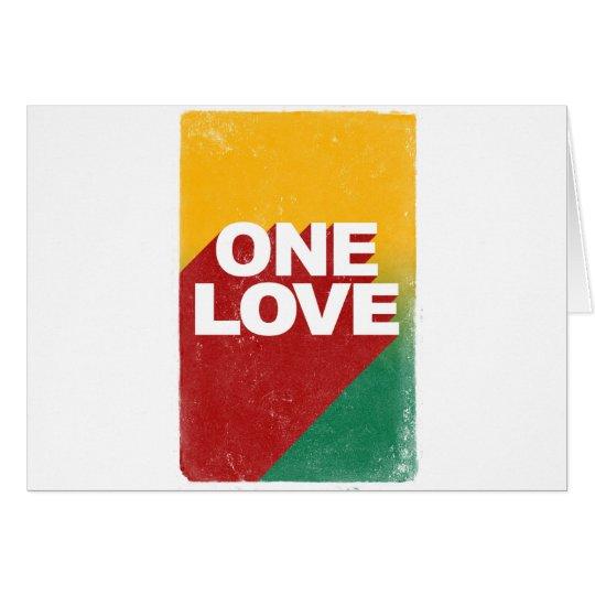 Ein Liebe-Plakat Grußkarte