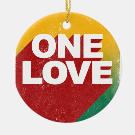 Ein Liebe-Plakat Keramik Ornament