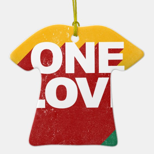 Ein Liebe-Plakat Keramik T-Shirt-Ornament