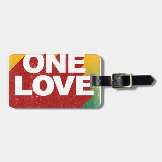 Ein Liebe-Plakat Kofferanhänger