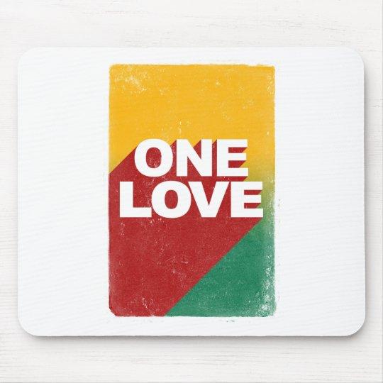 Ein Liebe-Plakat Mauspad