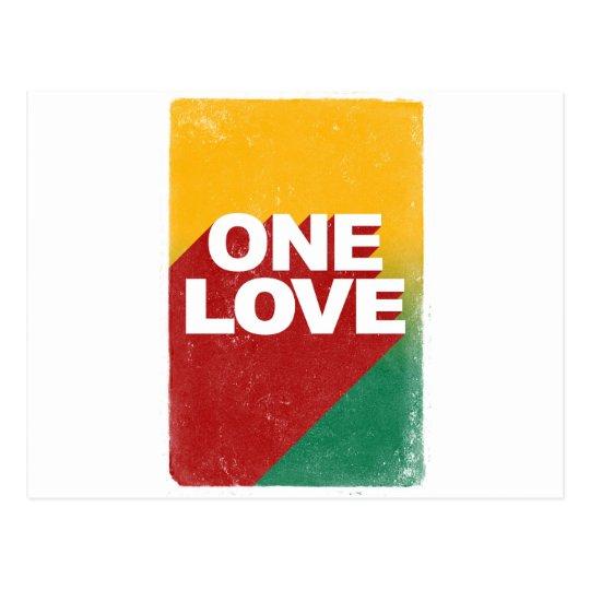 Ein Liebe-Plakat Postkarte
