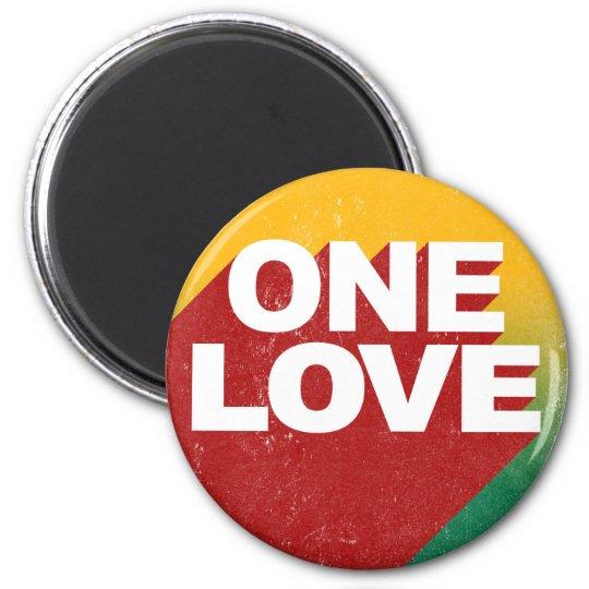Ein Liebe-Plakat Runder Magnet 5,1 Cm