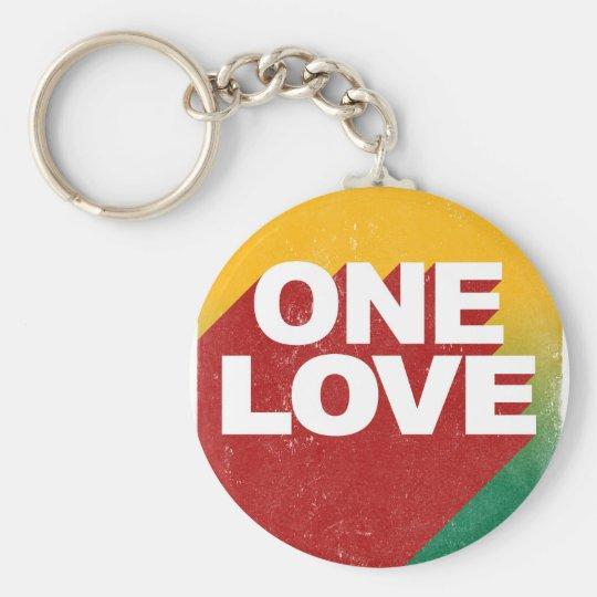 Ein Liebe-Plakat Standard Runder Schlüsselanhänger
