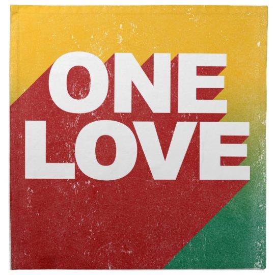 Ein Liebe-Plakat Stoff Servietten