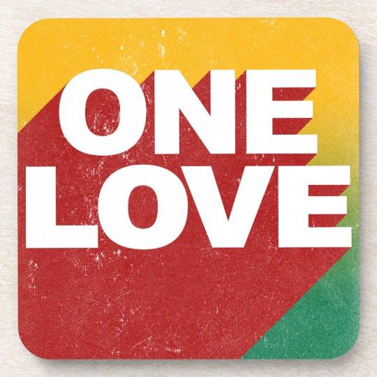 Ein Liebe-Plakat Untersetzer