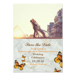 Ein Liebhaberpaar vor Louvre/Schmetterling Karte