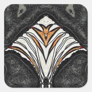 Ein Loch in der Wand - eine Scheibe der Orange Quadratischer Aufkleber