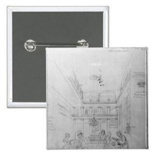 Ein London-Alkohol-Geschäft, 1839 Quadratischer Button 5,1 Cm