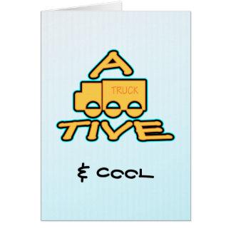 EIN lustiges attraktives Logo des LKWS TIVE Karte