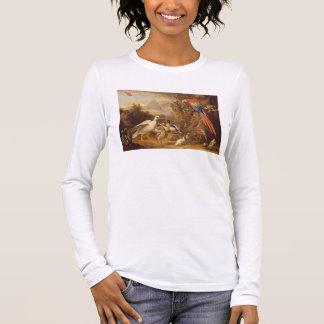 Ein Macaw, Enten, Papageien und andere Vögel in Langarm T-Shirt