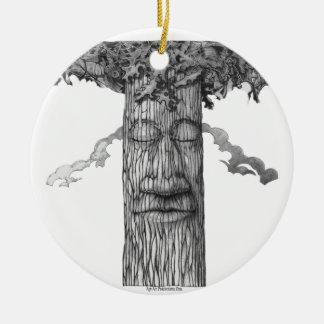 Ein mächtiges Baum-Abdeckung &W Keramik Ornament