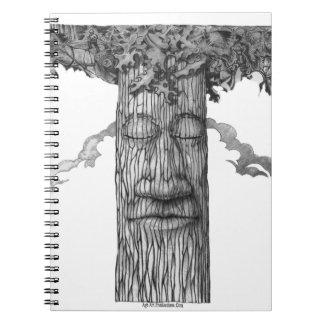 Ein mächtiges Baum-Abdeckung &W Notizblock