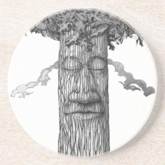 Ein mächtiges Baum-Abdeckung &W Untersetzer