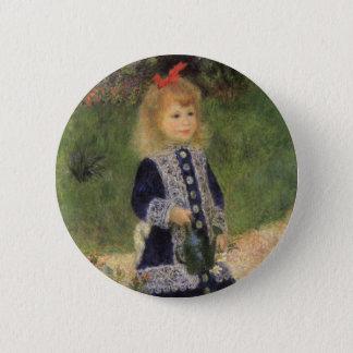 Ein Mädchen mit Gießkanne durch Pierre Renoir Runder Button 5,1 Cm