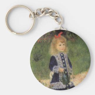 Ein Mädchen mit Gießkanne durch Pierre Renoir Schlüsselanhänger