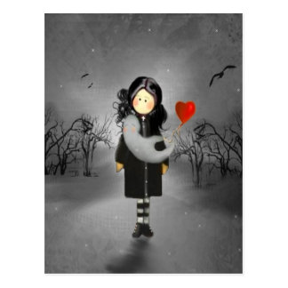 Ein Mädchen und ein Geist Postkarte