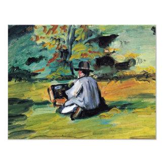 Ein Maler bei der Arbeit durch Paul Cézanne (beste 10,8 X 14 Cm Einladungskarte