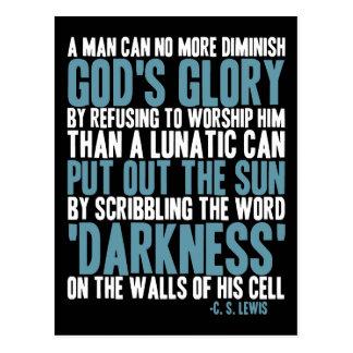 Ein Mann kann den Ruhm des Gottes nicht mehr Postkarte