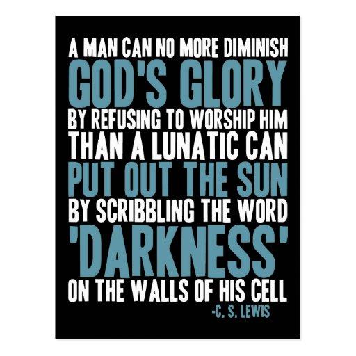 Ein Mann kann den Ruhm des Gottes nicht mehr vermi Postkarten