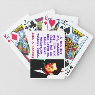 Ein Mann kann die - John Kennedy Bicycle Spielkarten