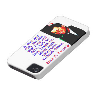 Ein Mann kann die - John Kennedy iPhone 4 Case-Mate Hülle