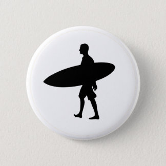 Ein Mann und sein Brett Runder Button 5,1 Cm
