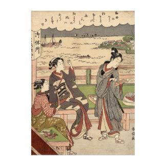 Ein Mann und zwei Frauen an einem Teehaus Acryldruck