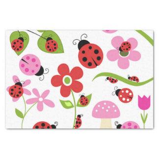 Ein Marienkäfer-Garten Seidenpapier
