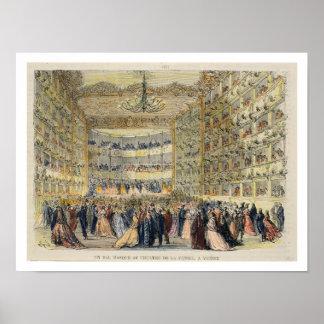 Ein Maskenball am Fenice Theater, Venedig, 19. Poster