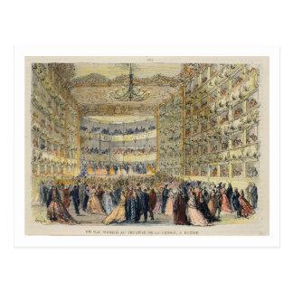 Ein Maskenball am Fenice Theater, Venedig, 19. Postkarte