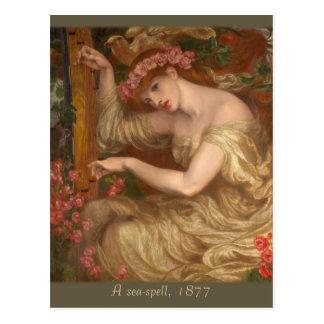 Ein Meerbann durch Dante Gabriel Rossetti CC0574 Postkarte