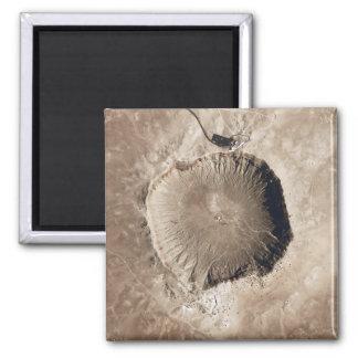 Ein Meteoritauswirkungskrater Quadratischer Magnet
