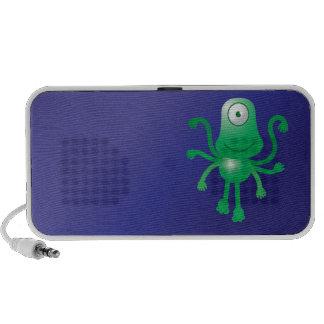 Ein mit Augen niedliches alien Mobiler Speaker