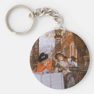 Ein Mittagessen (Le Dejeuner) durch James Tissot Schlüsselanhänger