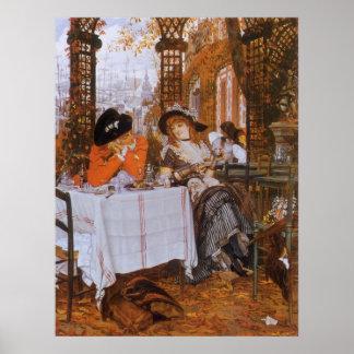 Ein Mittagessen (zierlicher Dejeuner) durch James Poster