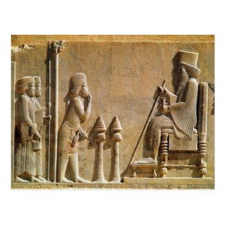 Ein mittlerer Offizier, der König Darius Postkarte