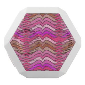 Ein modernes rosa Wellenneonmuster Weiße Bluetooth Lautsprecher