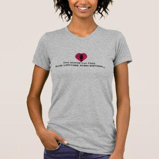Ein Monat geben mit Lebenszeitsubskription frei T-Shirt