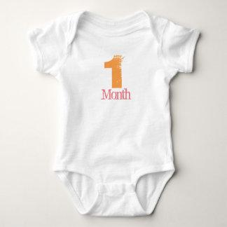 Ein Monats-Körper-Anzug Baby Strampler